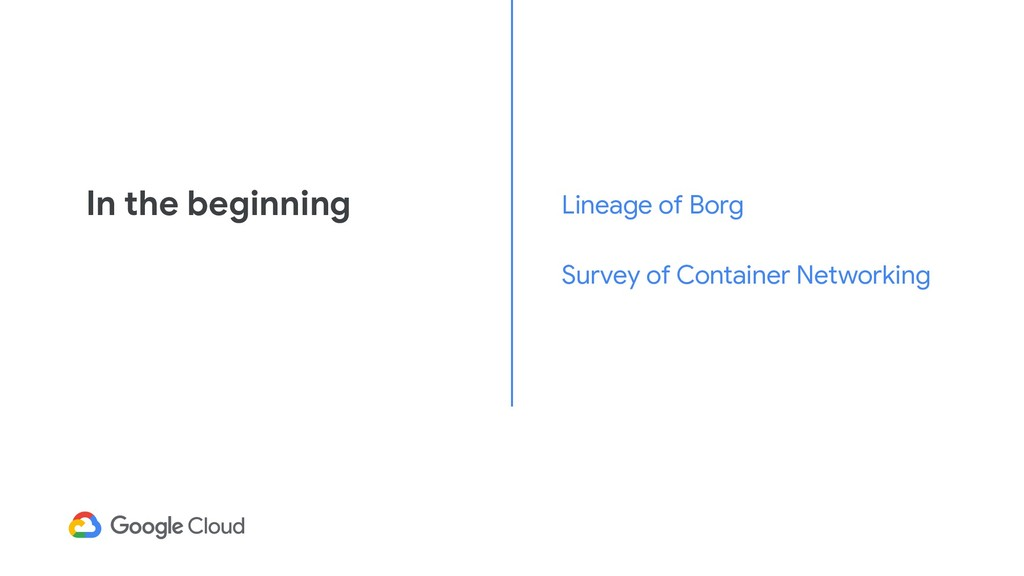In the beginning Lineage of Borg Survey of Cont...