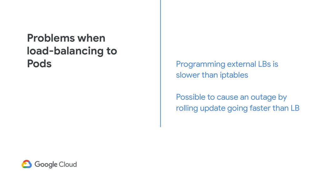 Problems when load-balancing to Pods Programmin...