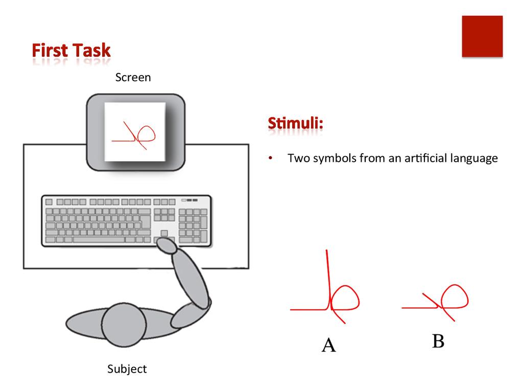 Screen  Subject    • Two symbols...