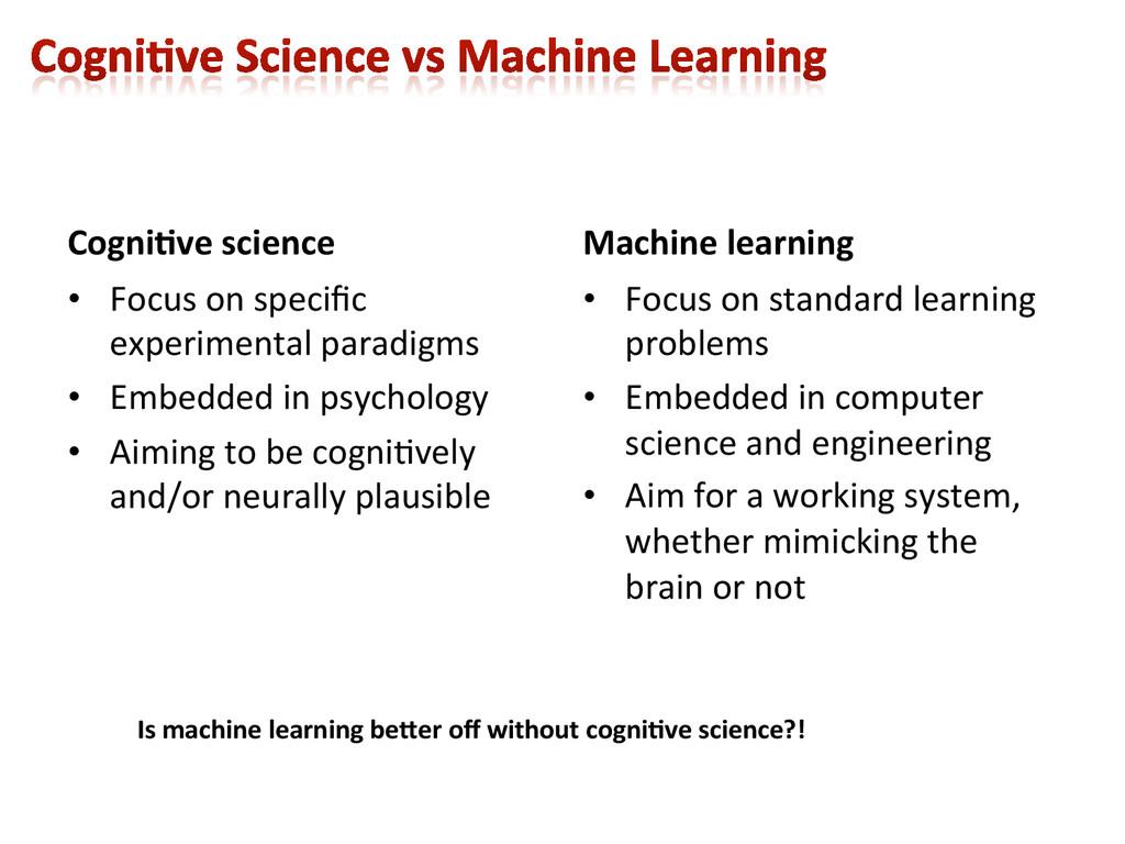 Cogni9ve science  • Focus on speci...