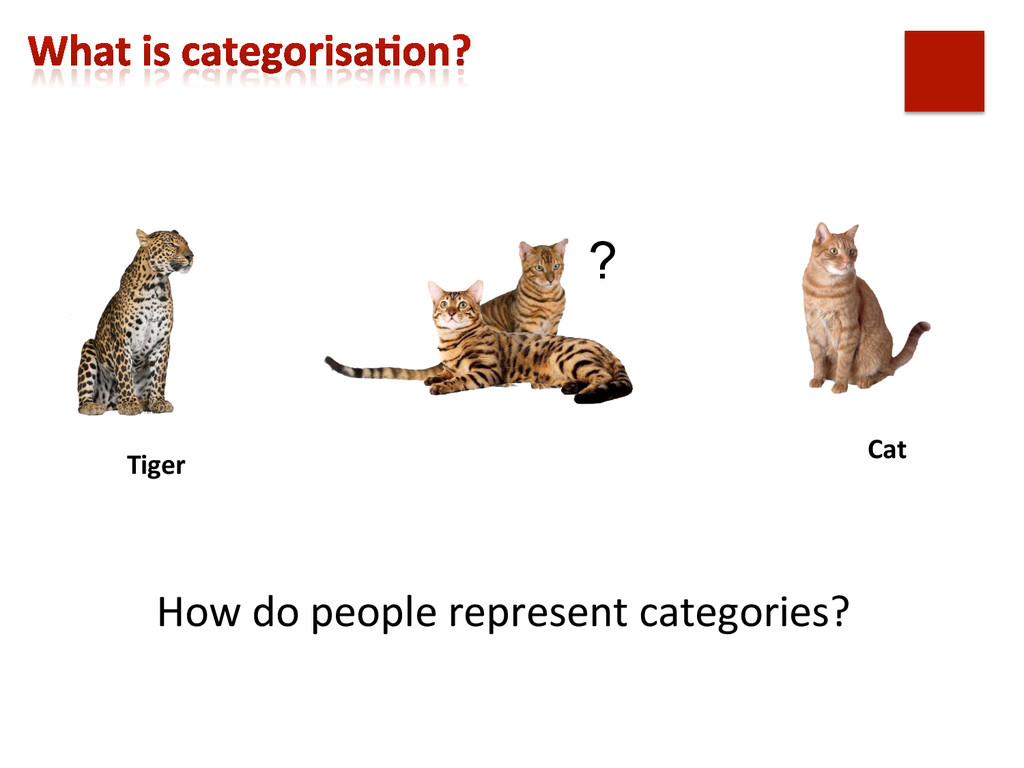 How do people represent categories?...