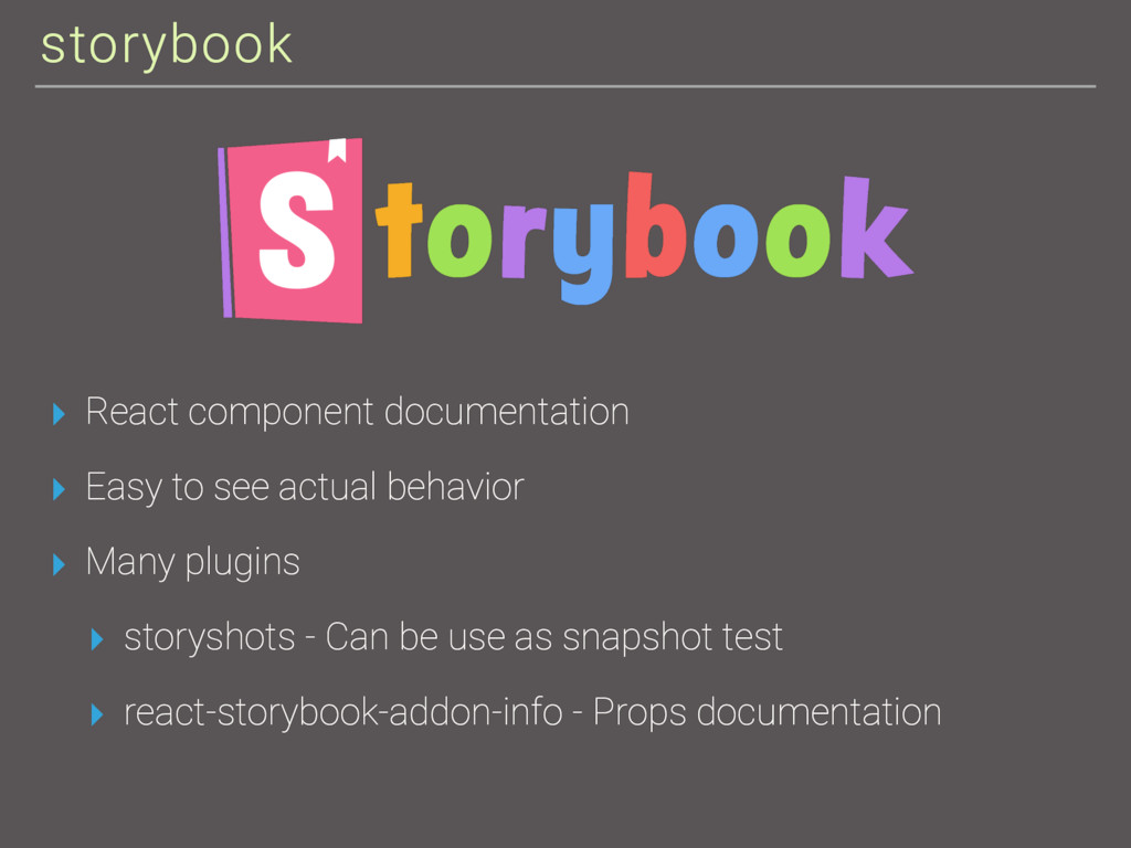 storybook ▸ React component documentation ▸ Eas...