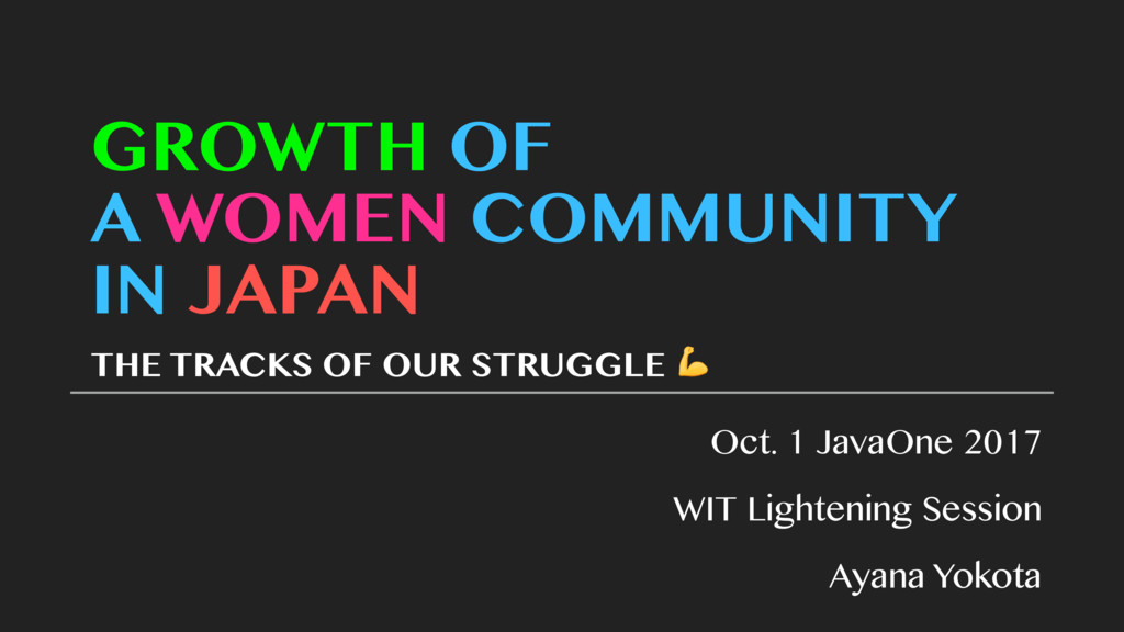 GROWTH OF A WOMEN COMMUNITY IN JAPAN THE TRACKS...