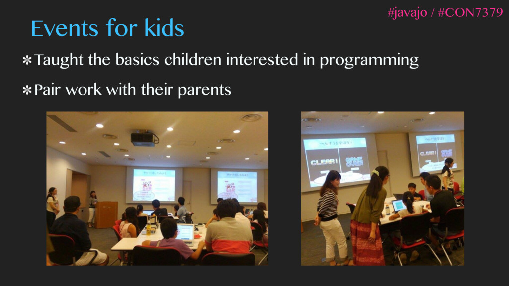 Events for kids Taught the basics children inte...