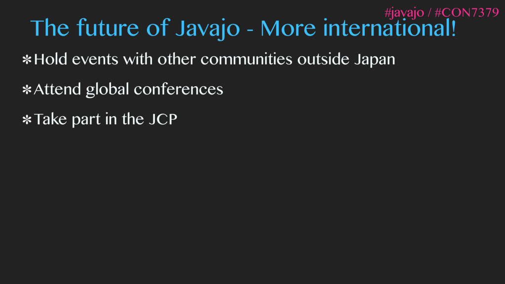 The future of Javajo - More international! Hold...