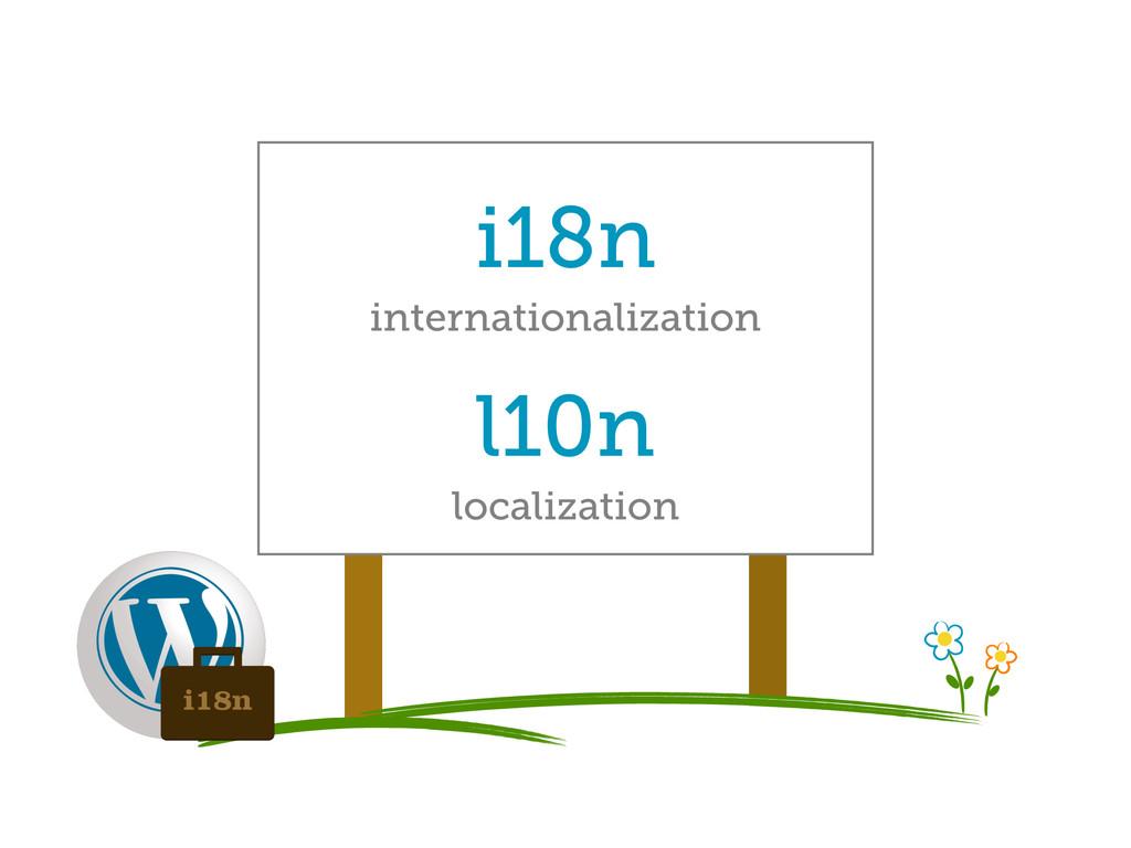 i18n internationalization l10n localization