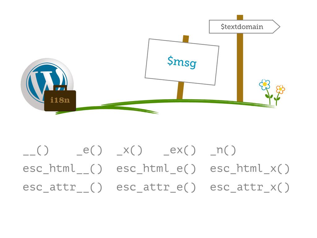 __() _e() _x() _ex() _n() esc_html__() esc_html...