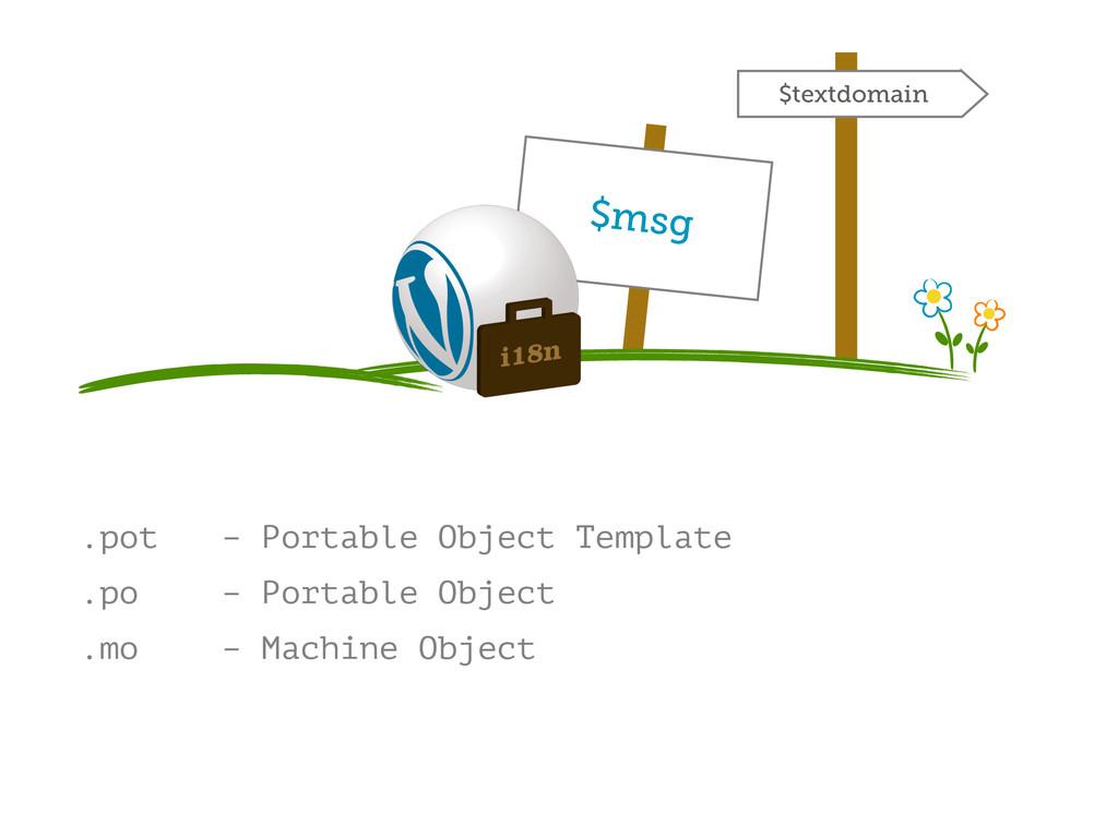 .pot – Portable Object Template .po – Portable ...