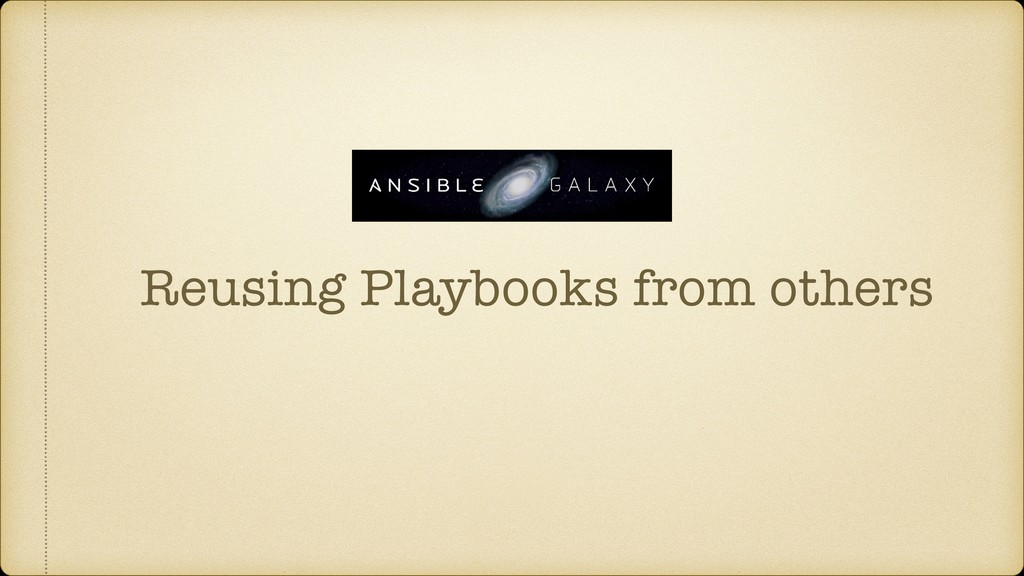 Reusing Playbooks from others