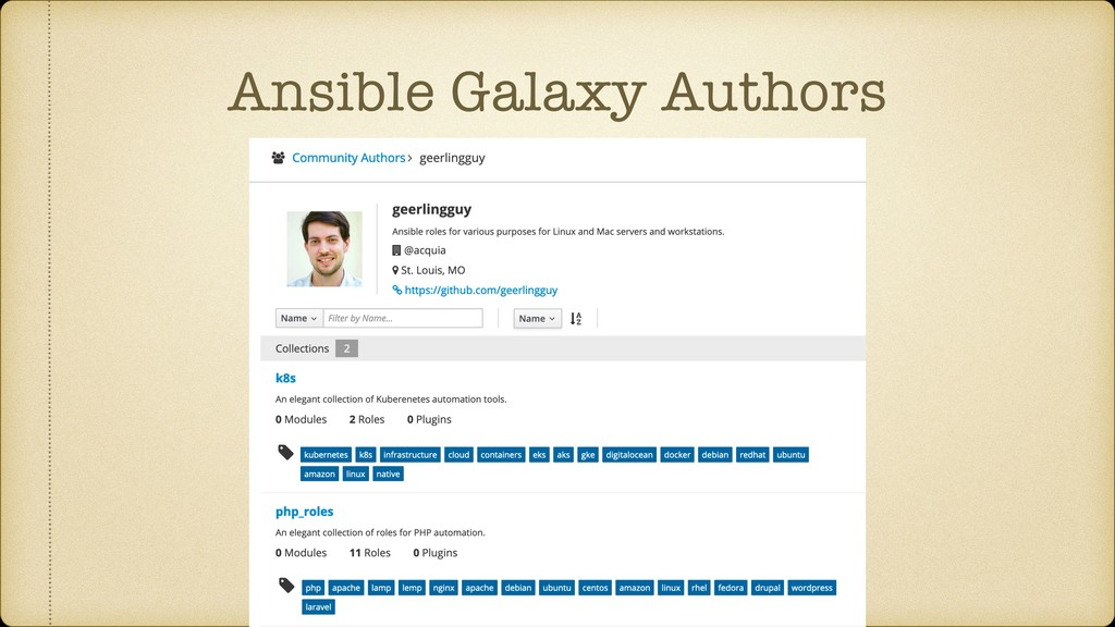 Ansible Galaxy Authors