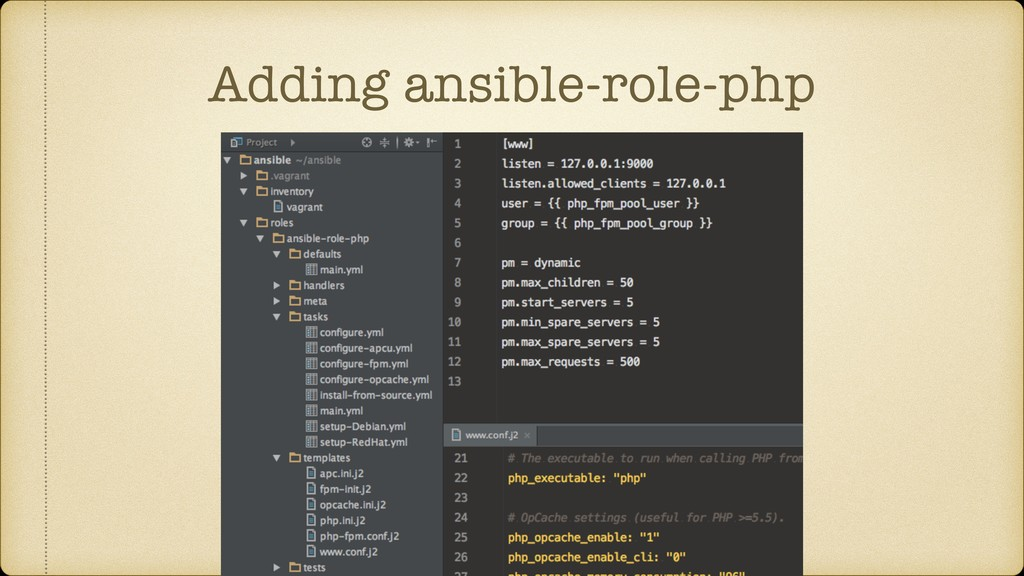 Adding ansible-role-php