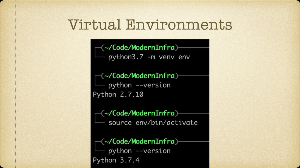 Virtual Environments