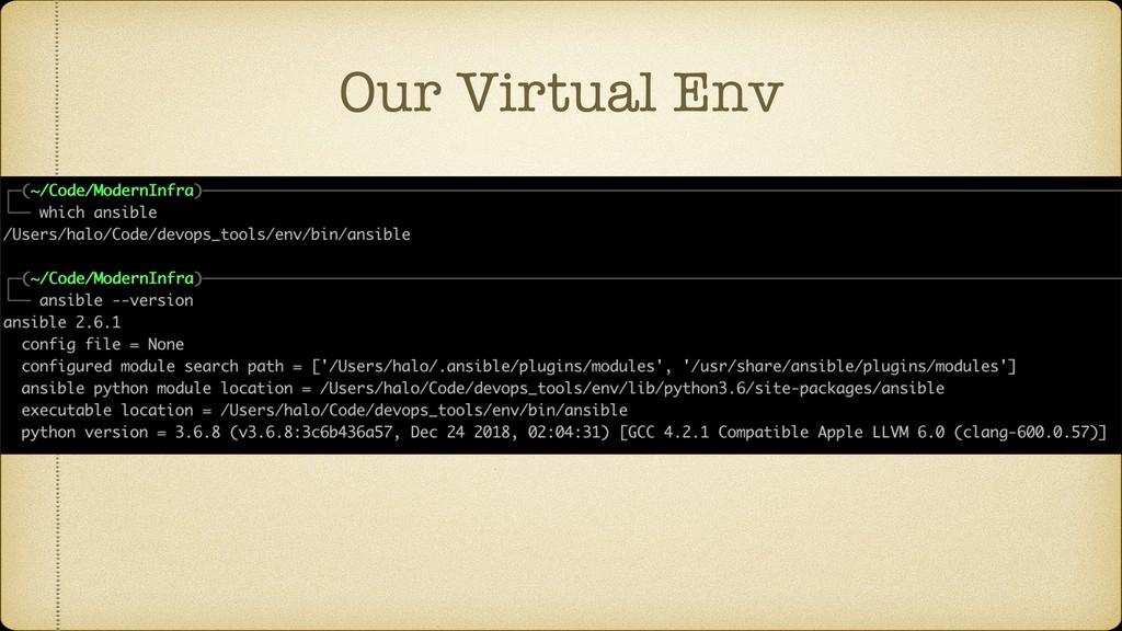 Our Virtual Env