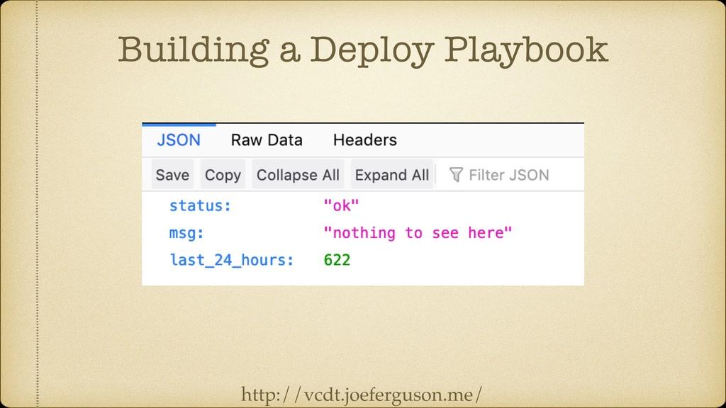 Building a Deploy Playbook http://vcdt.joefergu...