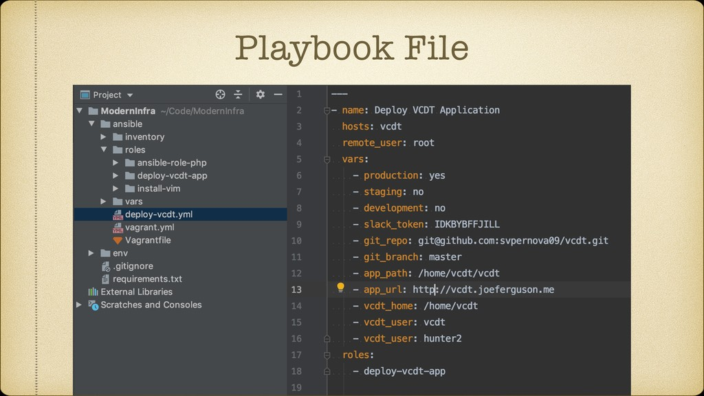 Playbook File