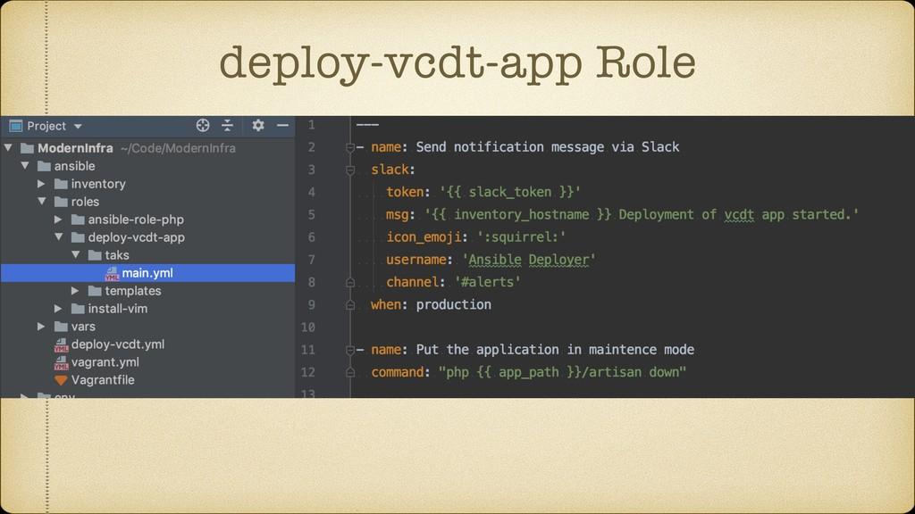 deploy-vcdt-app Role