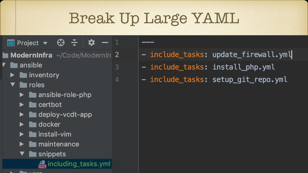 Break Up Large YAML