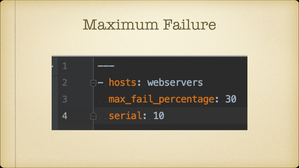 Maximum Failure