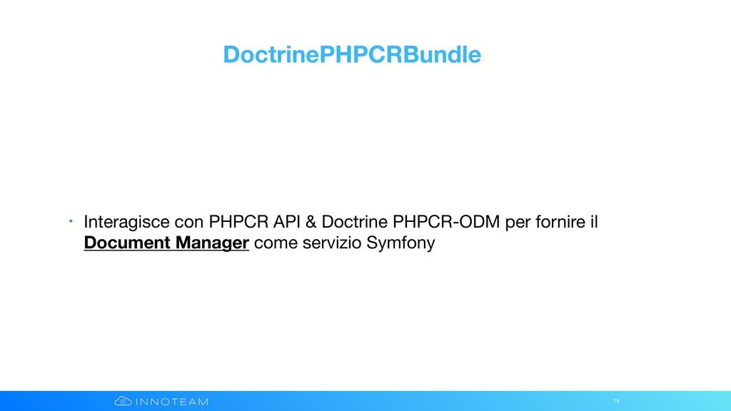 DoctrinePHPCRBundle • Interagisce con PHPCR API...