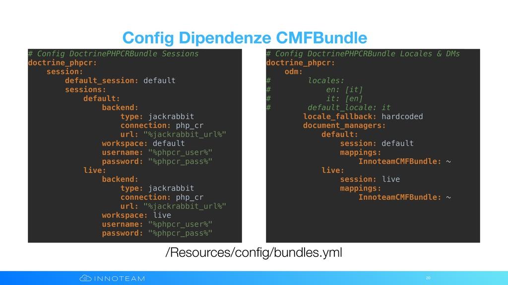 Config Dipendenze CMFBundle 20 /Resources/config/...