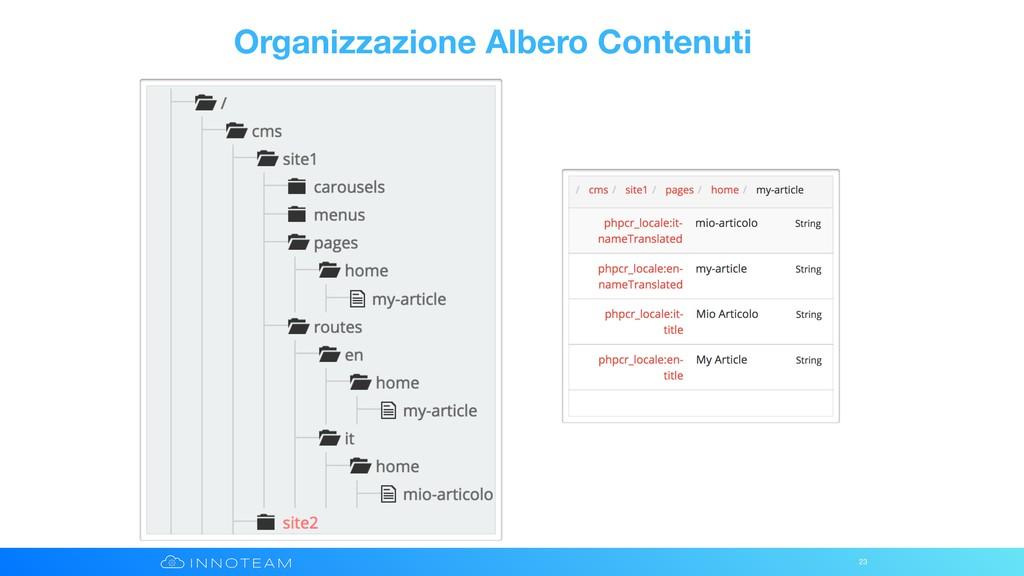 Organizzazione Albero Contenuti 23