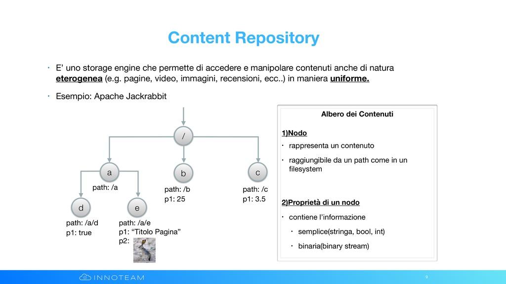 Content Repository • E' uno storage engine che ...