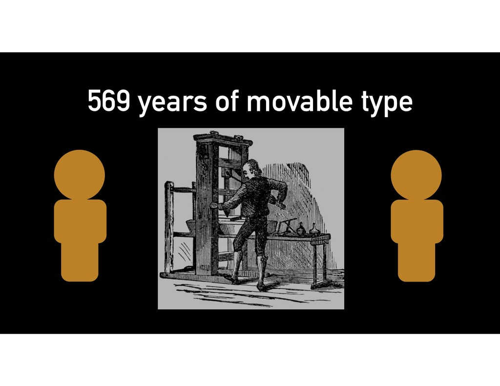 569 years of movable type