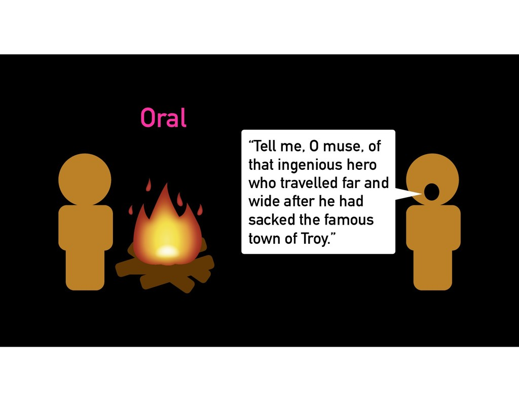 "Oral ""Tell me, O muse, of that ingenious hero w..."
