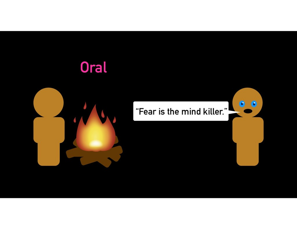 "Oral ""Fear is the mind killer."""
