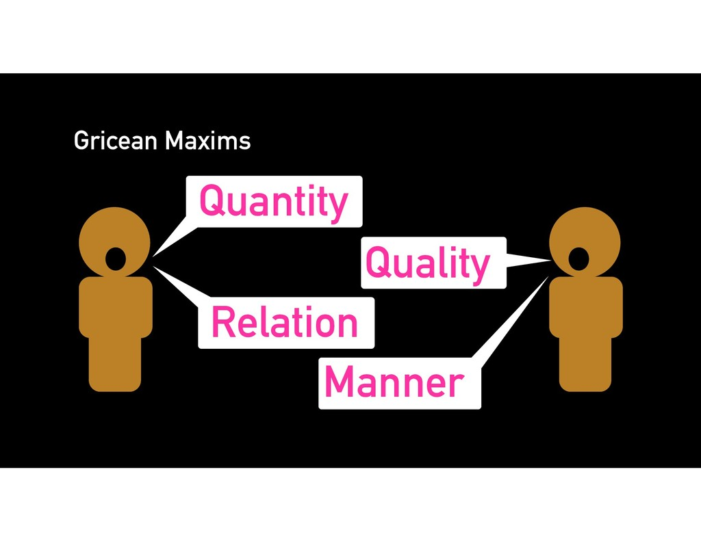 Quantity Quality Relation Manner Gricean Maxims