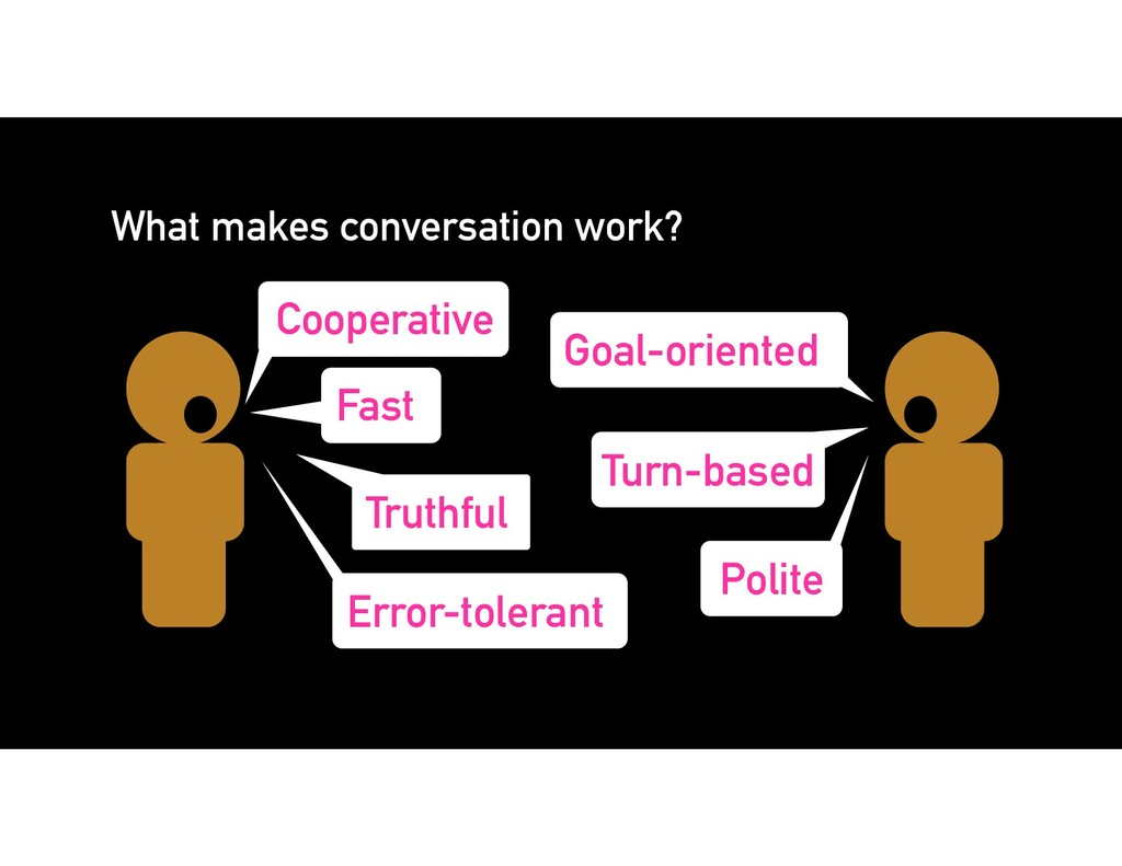 What makes conversation work? Cooperative Goal-...