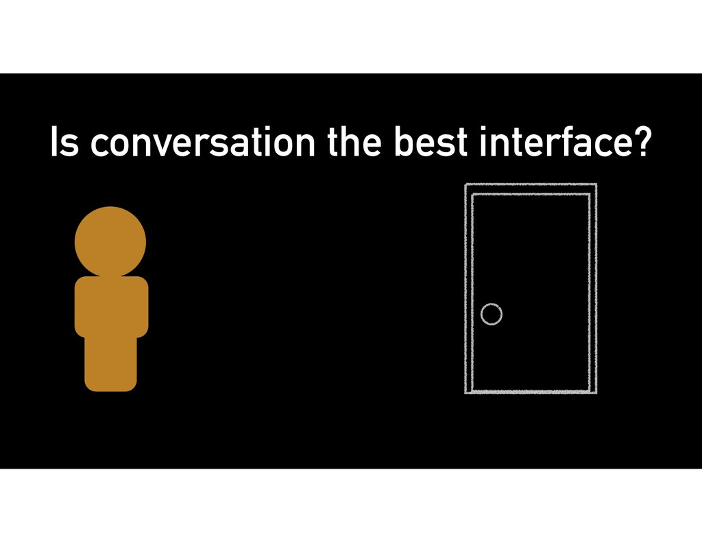 Is conversation the best interface?
