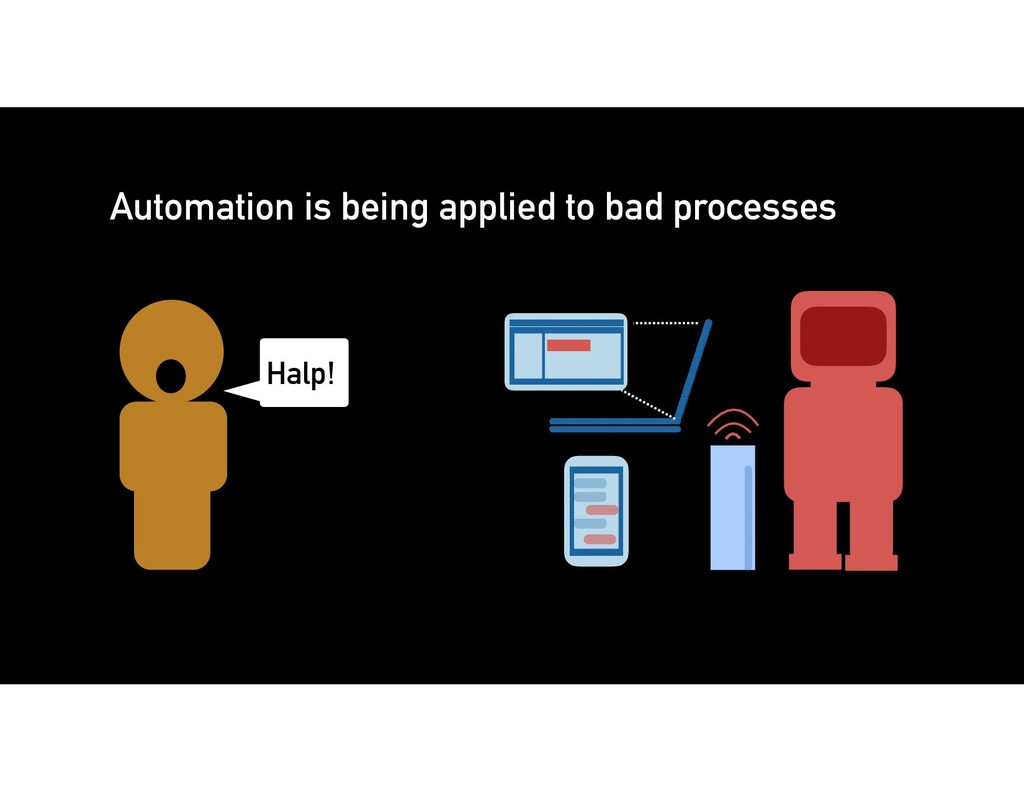 Automation is being applied to bad processes Ha...