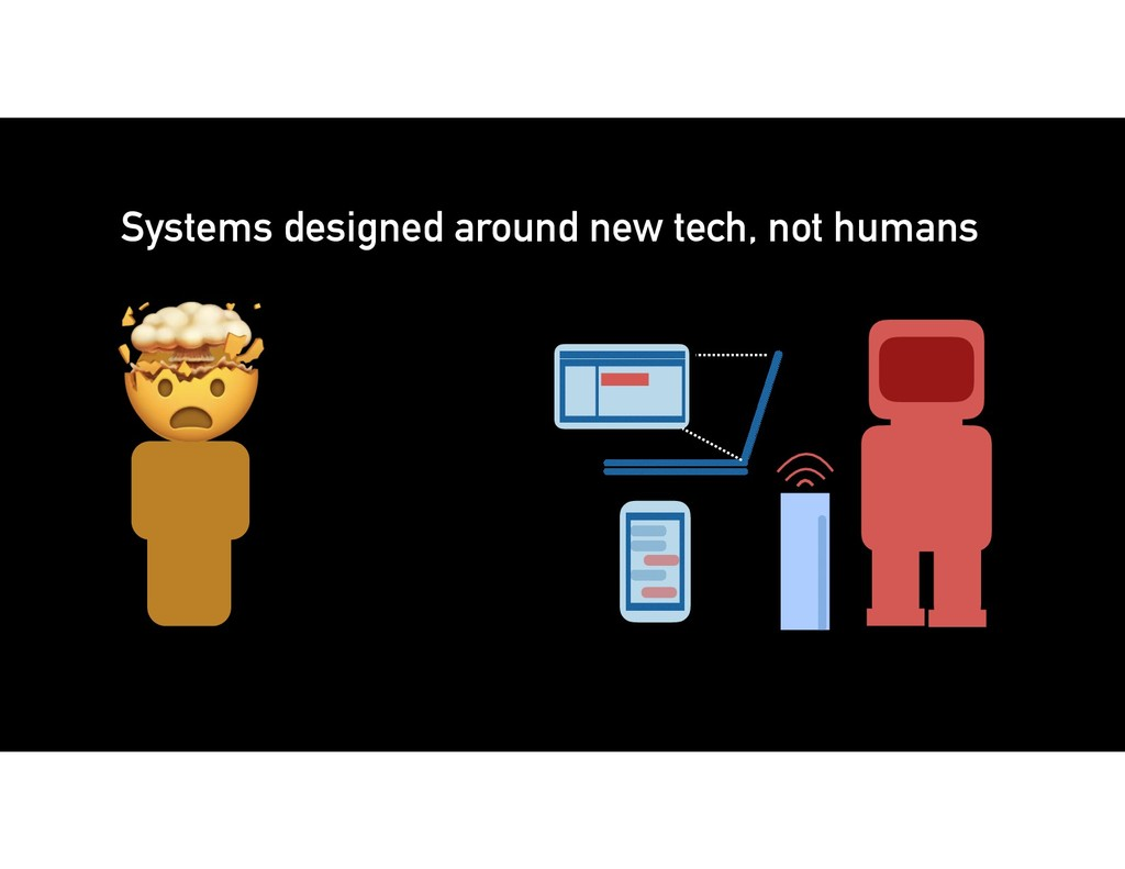 Systems designed around new tech, not humans
