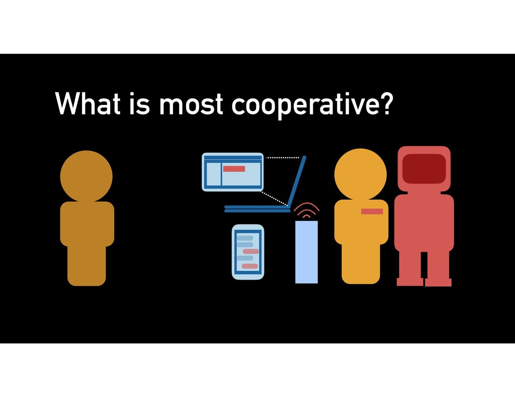 What is most cooperative?