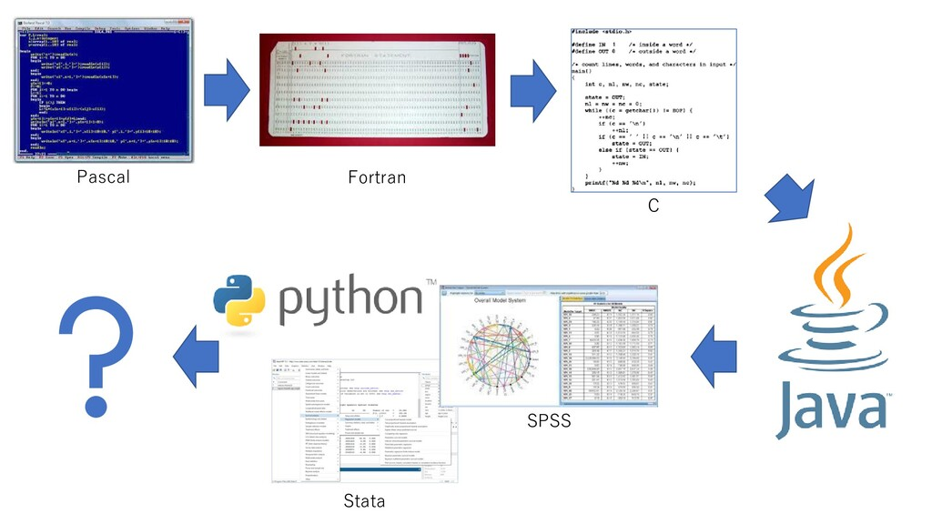 Pascal Fortran C Stata SPSS