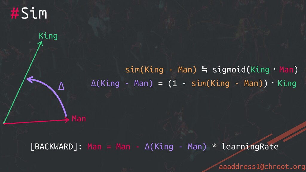 aaaddress1@chroot.org #Sim King Man Δ sim(King ...