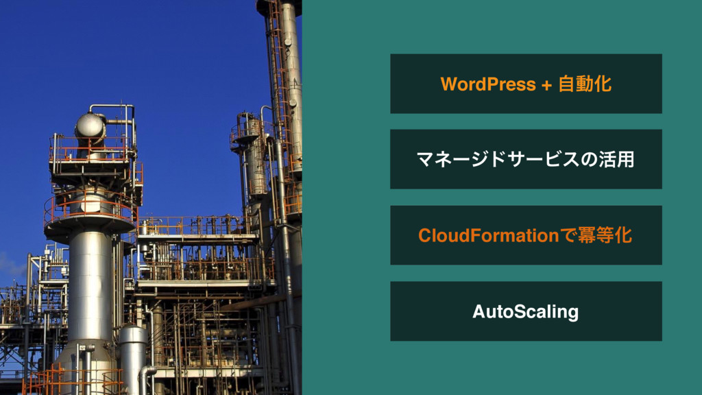 AutoScaling WordPress + ࣗಈԽ ϚωʔδυαʔϏεͷ׆༻ CloudF...