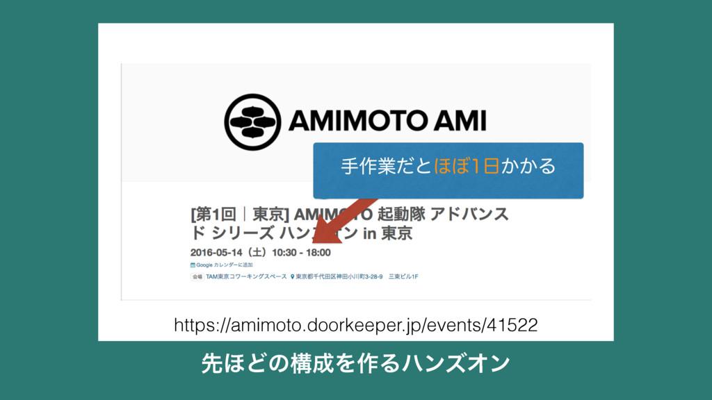 ઌ΄ͲͷߏΛ࡞ΔϋϯζΦϯ https://amimoto.doorkeeper.jp/ev...