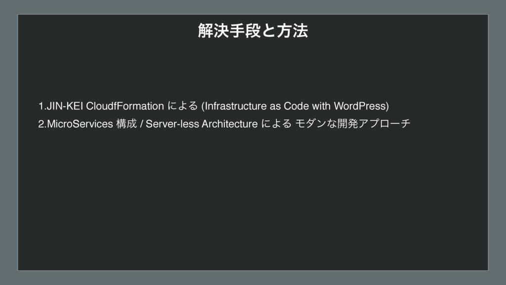 ղܾखஈͱํ๏ 1.JIN-KEI CloudfFormation ʹΑΔ (Infrastr...