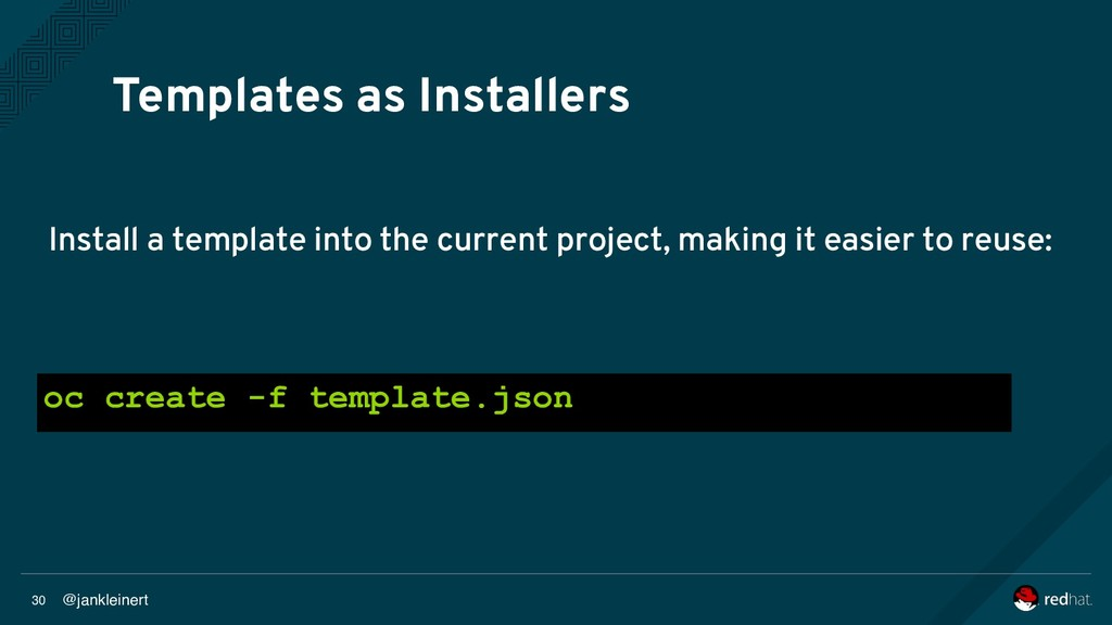 @jankleinert 30 Templates as Installers Install...