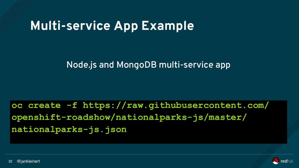 @jankleinert 32 Multi-service App Example Node....