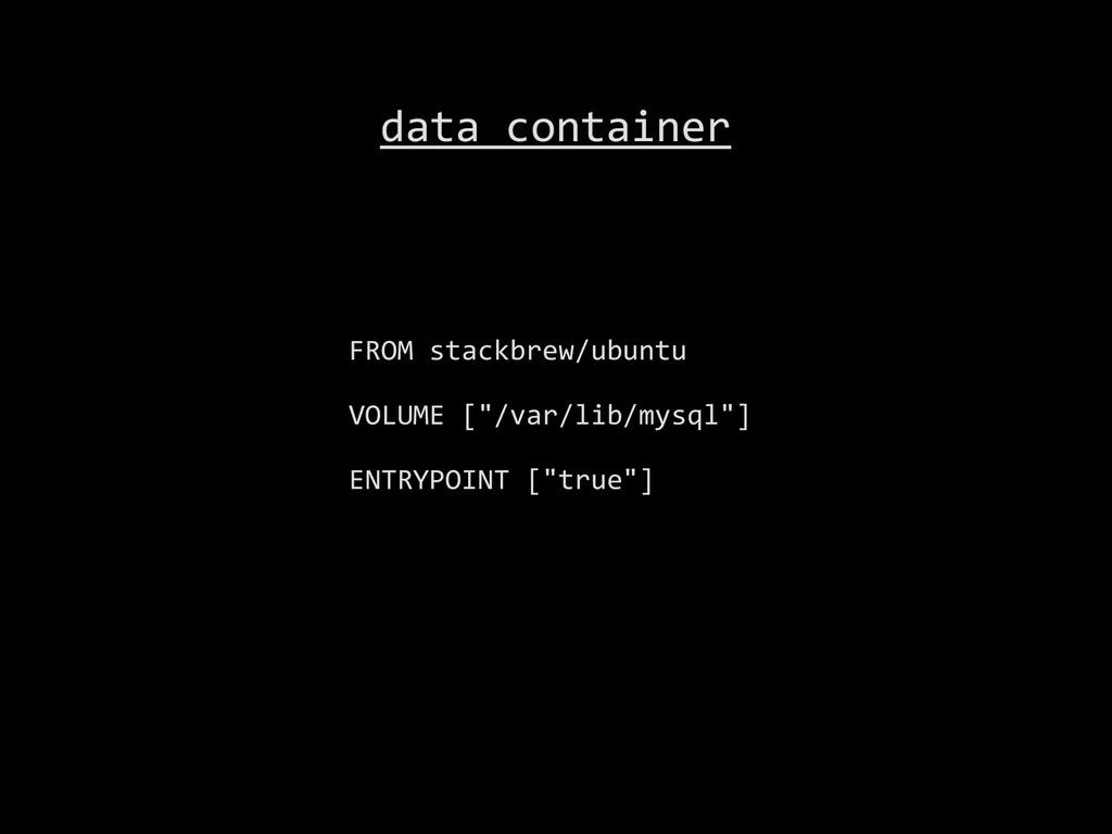 "FROM stackbrew/ubuntu  VOLUME [""/var/l..."