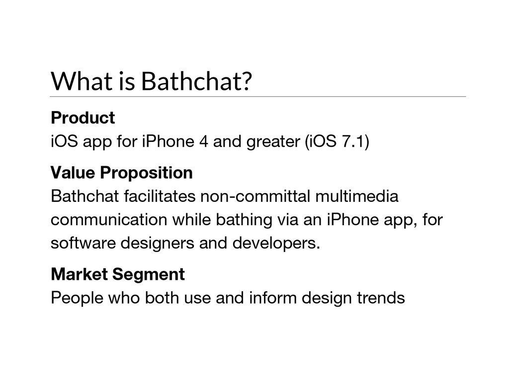 What is Bathchat? Product iOS app for iPhone 4 ...