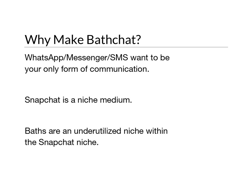 Why Make Bathchat? WhatsApp/Messenger/SMS want ...