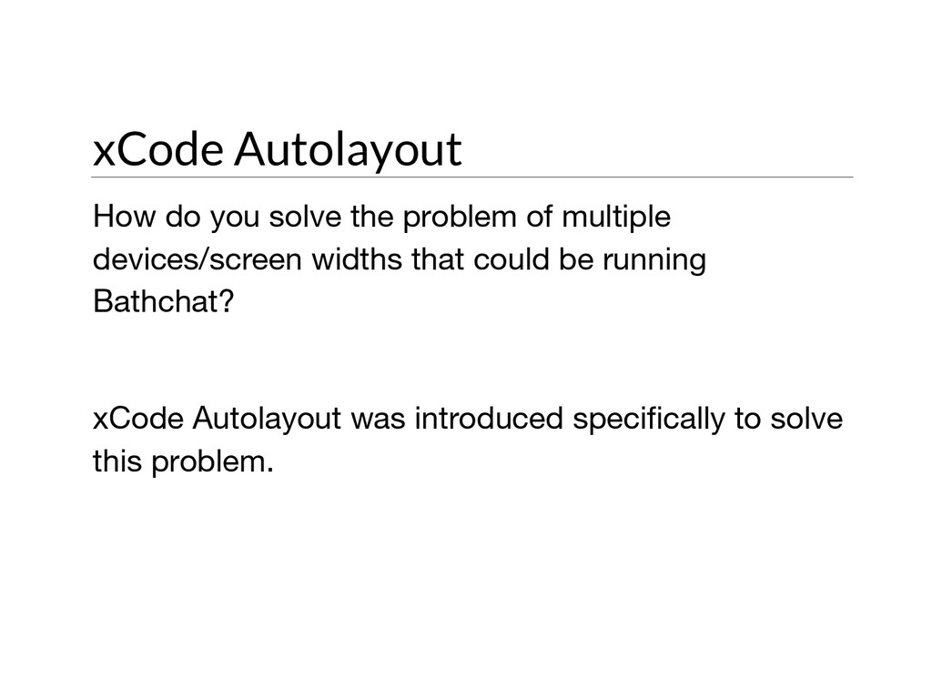 xCode Autolayout How do you solve the problem o...