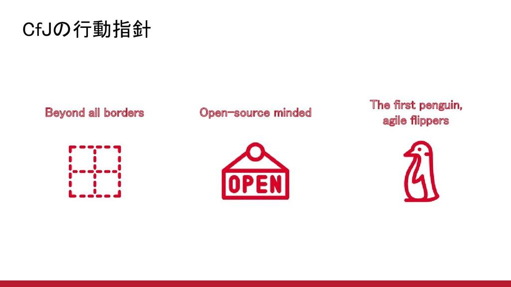 CfJの行動指針 16 Beyond all borders Open-source mi...