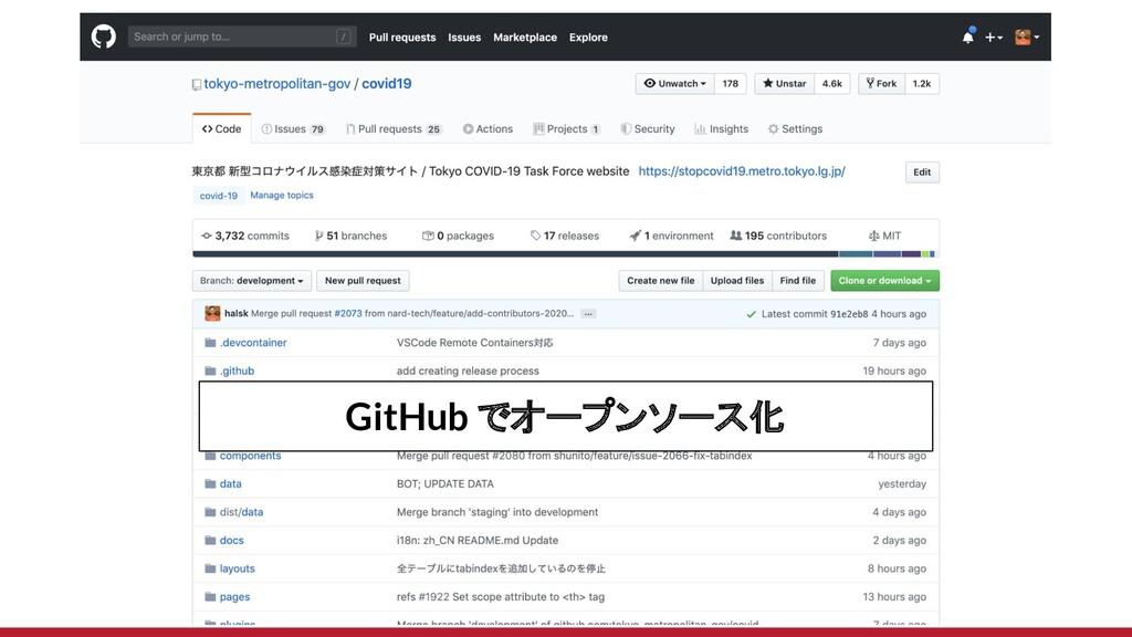 GitHub でオープンソース化