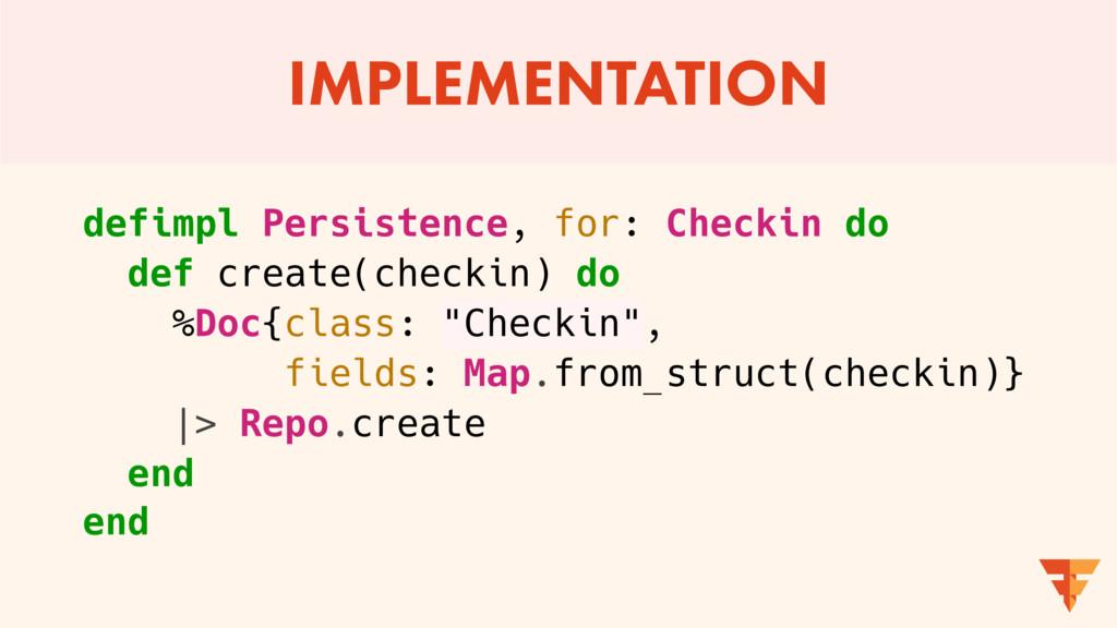 IMPLEMENTATION defimpl Persistence, for: Checki...