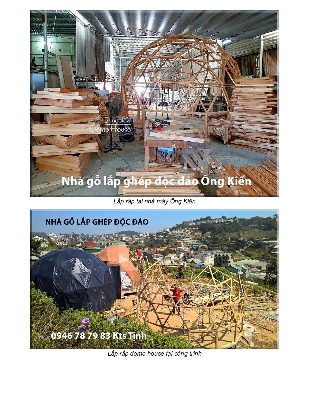 Lắp ráp tại nhà máy Ông Kiến Lắp rắp dome house...